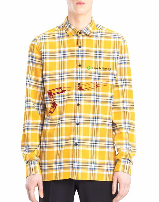lanvin patchwork shirt men