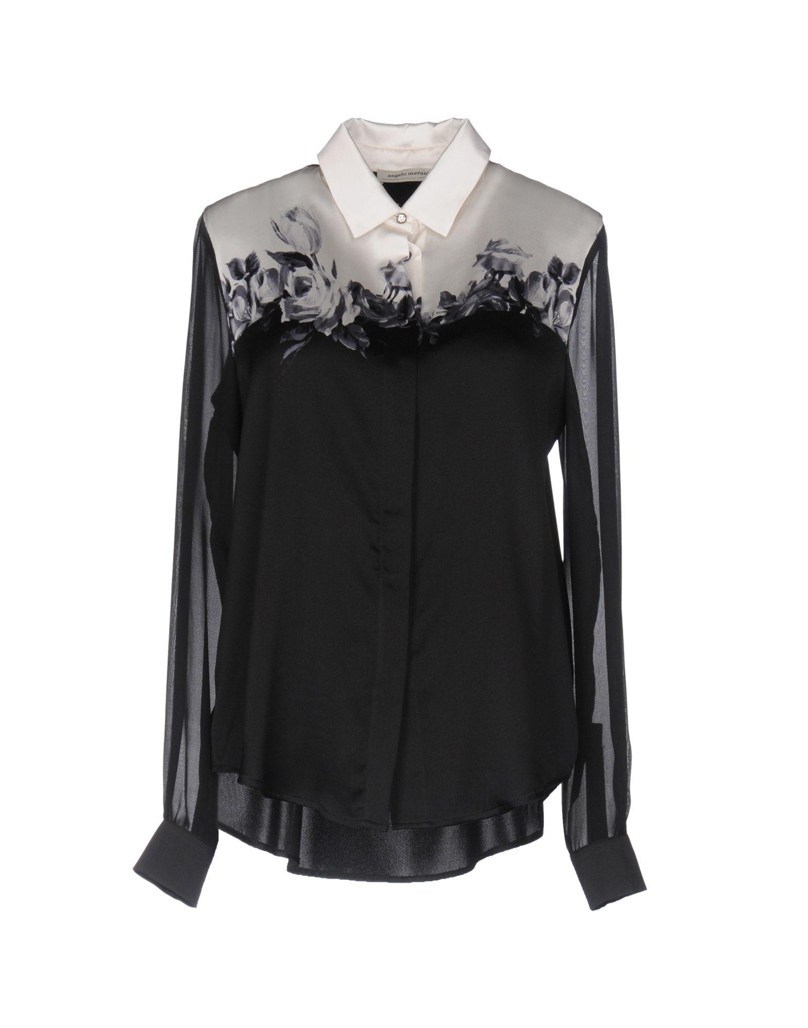 ANGELO MARANI Damen Hemd Farbe Schwarz Größe 3