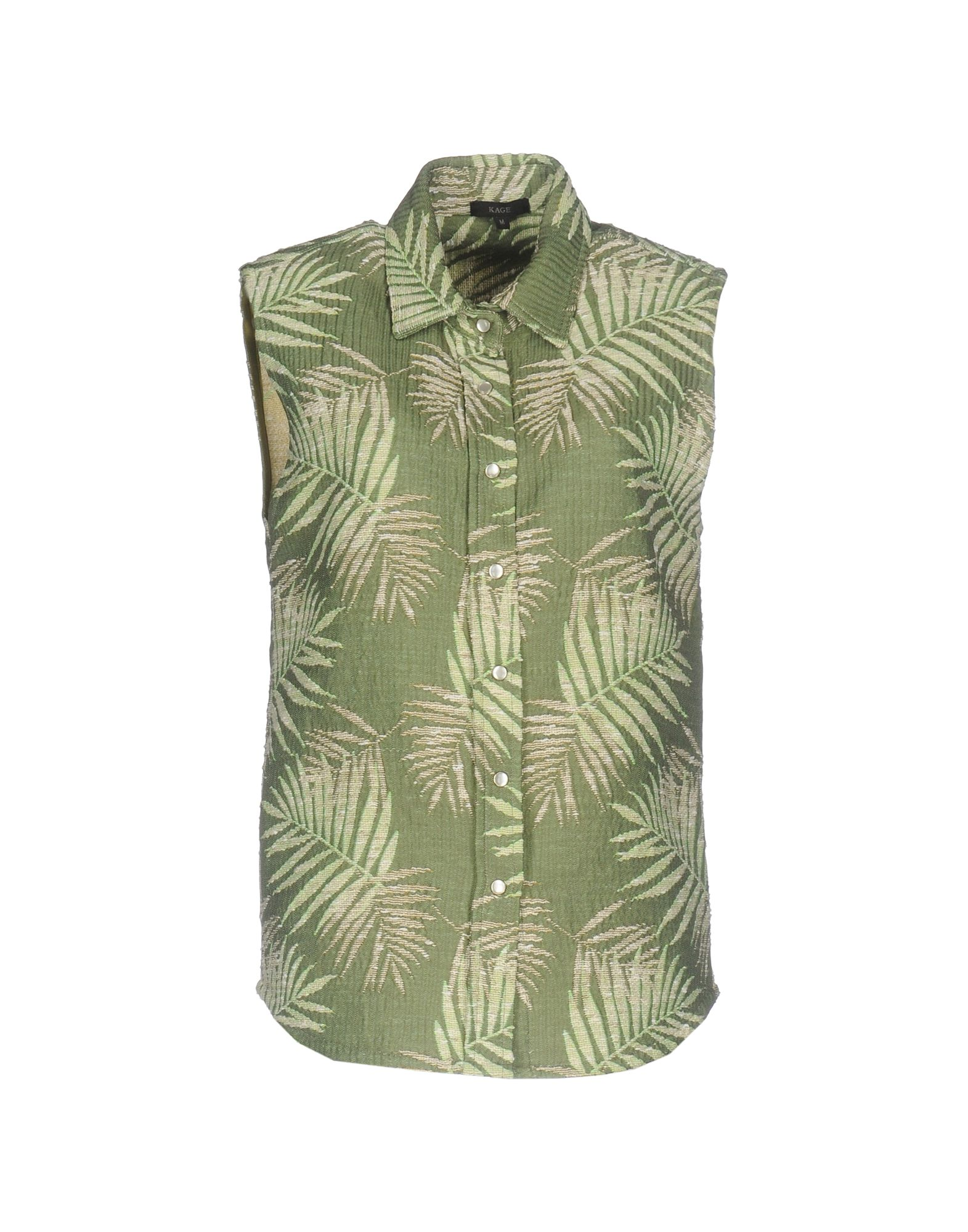 KAGE Patterned Shirts & Blouses in Military Green