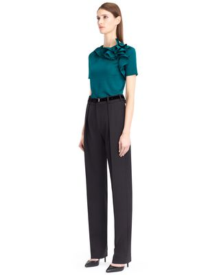 LANVIN KNIT AND FRILL TOP Top D e