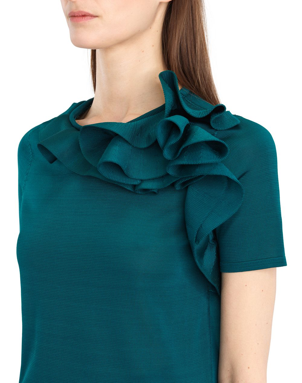 KNIT AND FRILL TOP - Lanvin