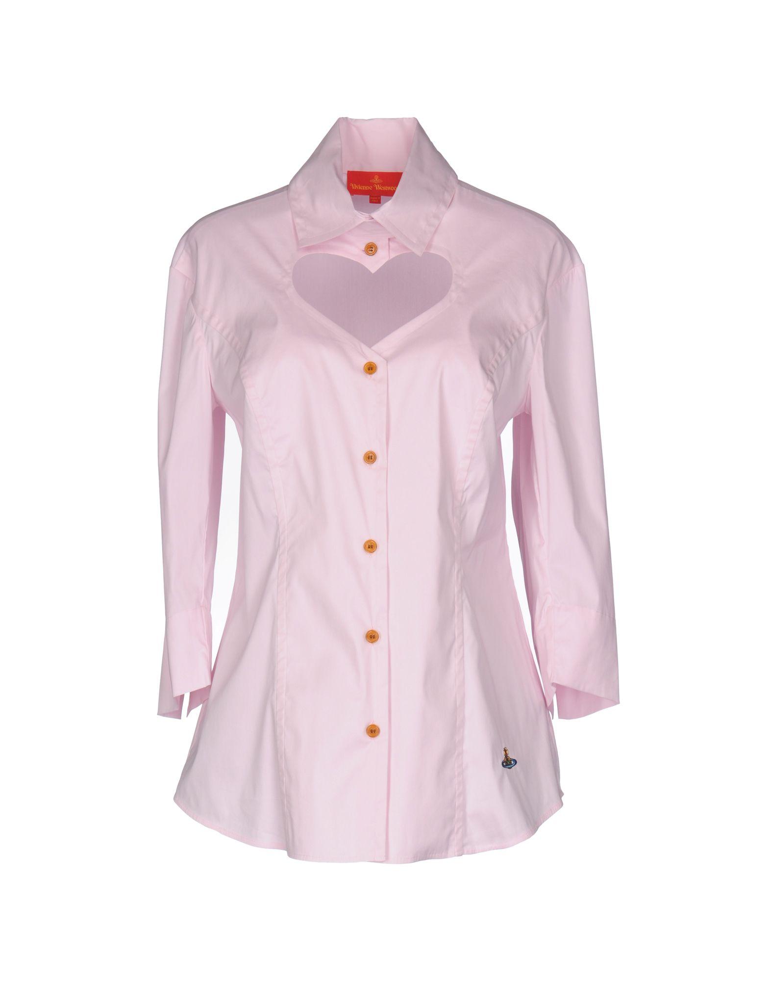 VIVIENNE WESTWOOD Damen Hemd Farbe Rosa Größe 5