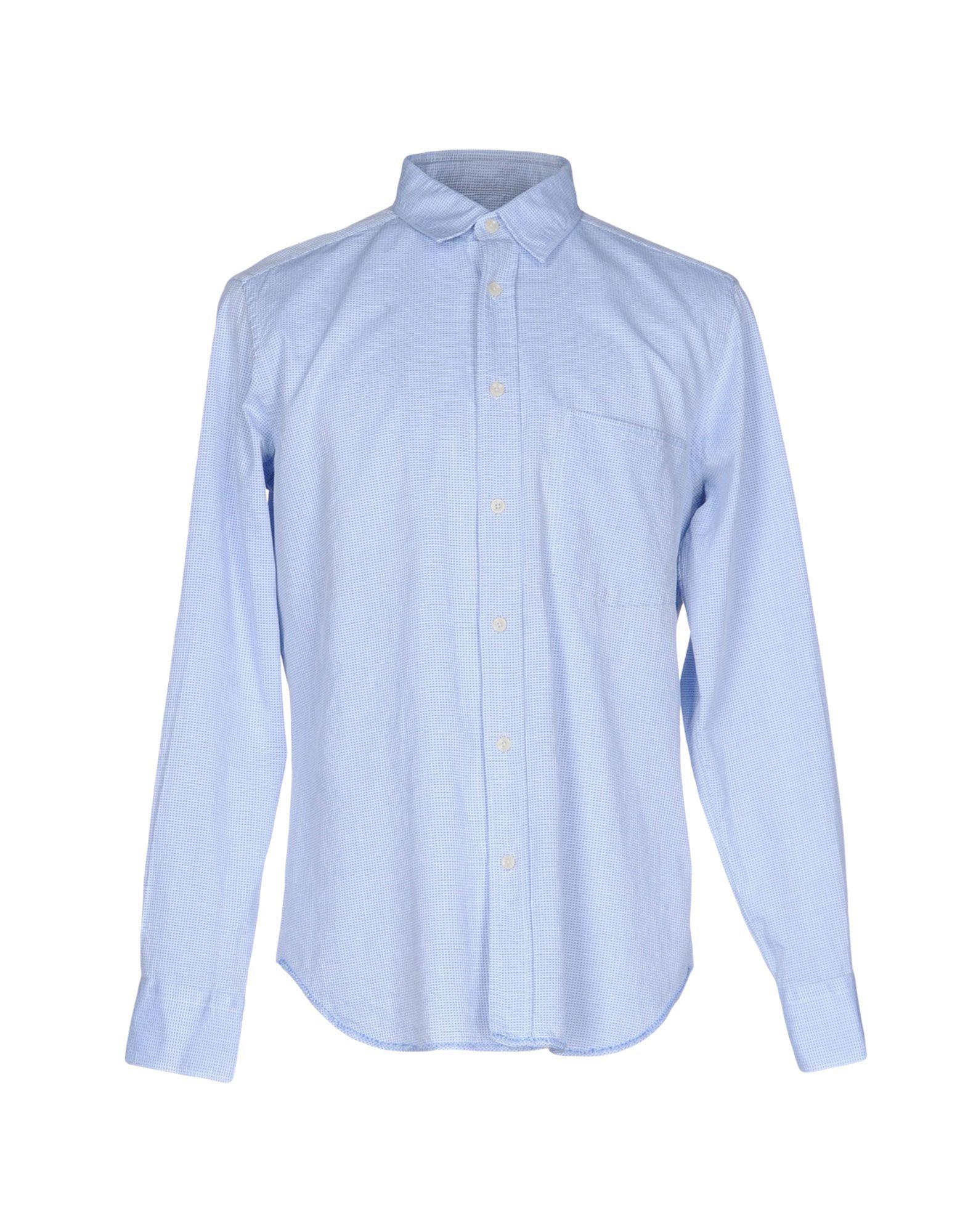 《送料無料》MAURO GRIFONI メンズ シャツ アジュールブルー 43 コットン 100%