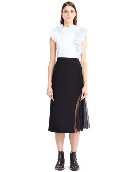 lanvin cotton poplin top women