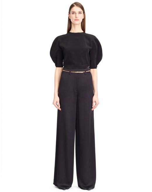 lanvin satin crepe top women