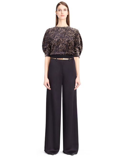 lanvin devore velvet top women