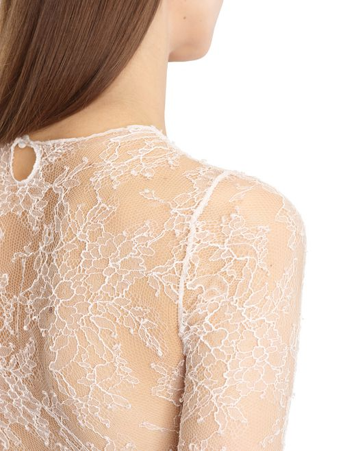 lanvin chantilly lace leotard women