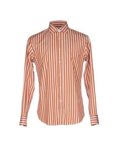 BAGUTTA メンズ シャツ オレンジ S コットン 100%