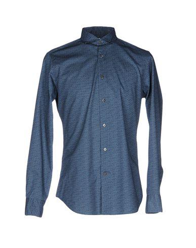 BAGUTTA メンズ シャツ ブルー L コットン 100%
