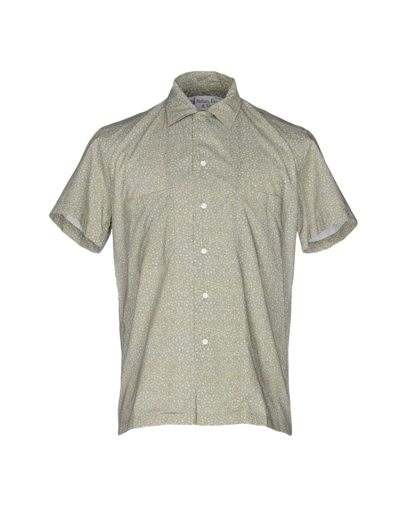 SIDIAN, ERSATZ & VANES Patterned Shirt in Green