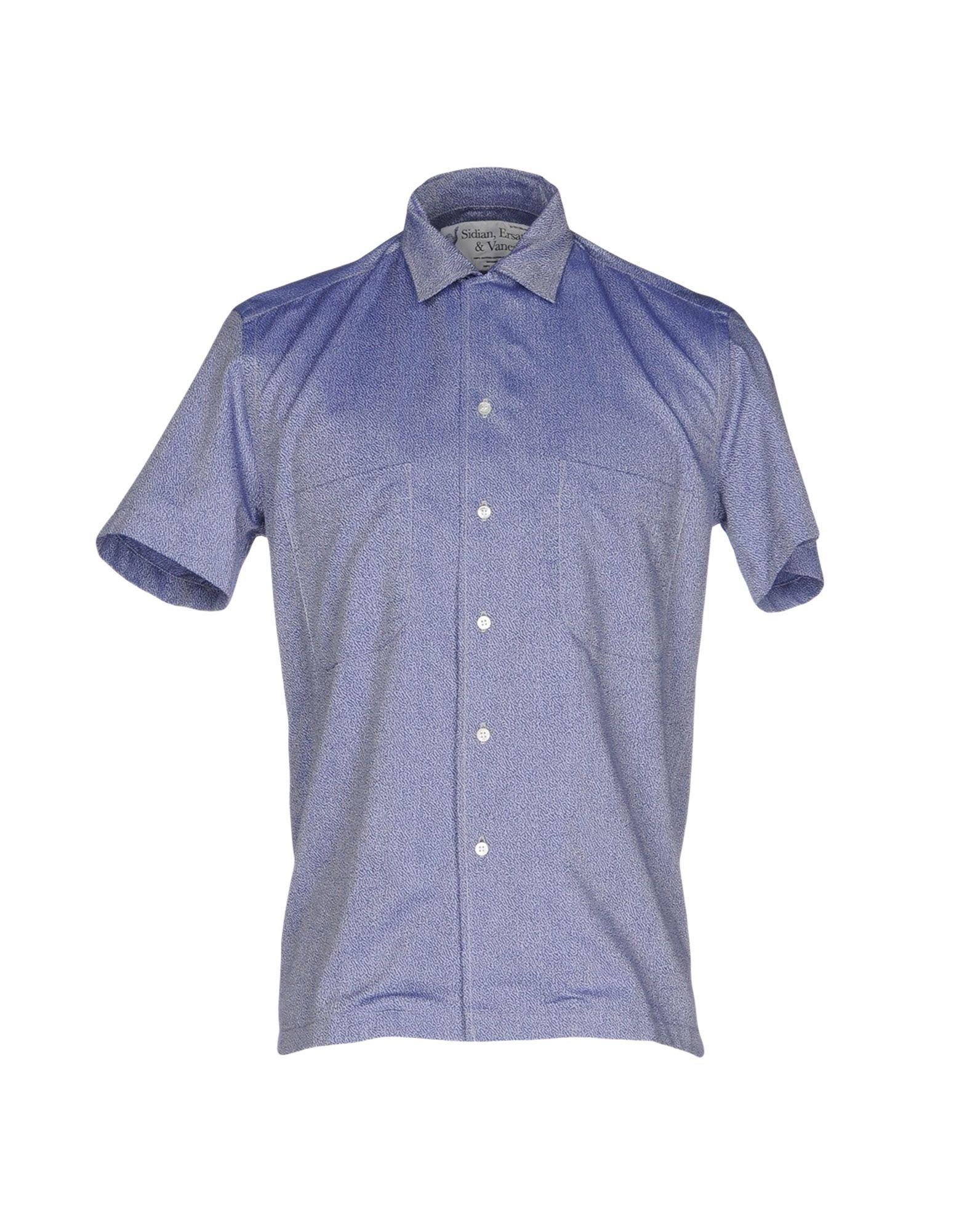 SIDIAN, ERSATZ & VANES Patterned Shirt in Blue