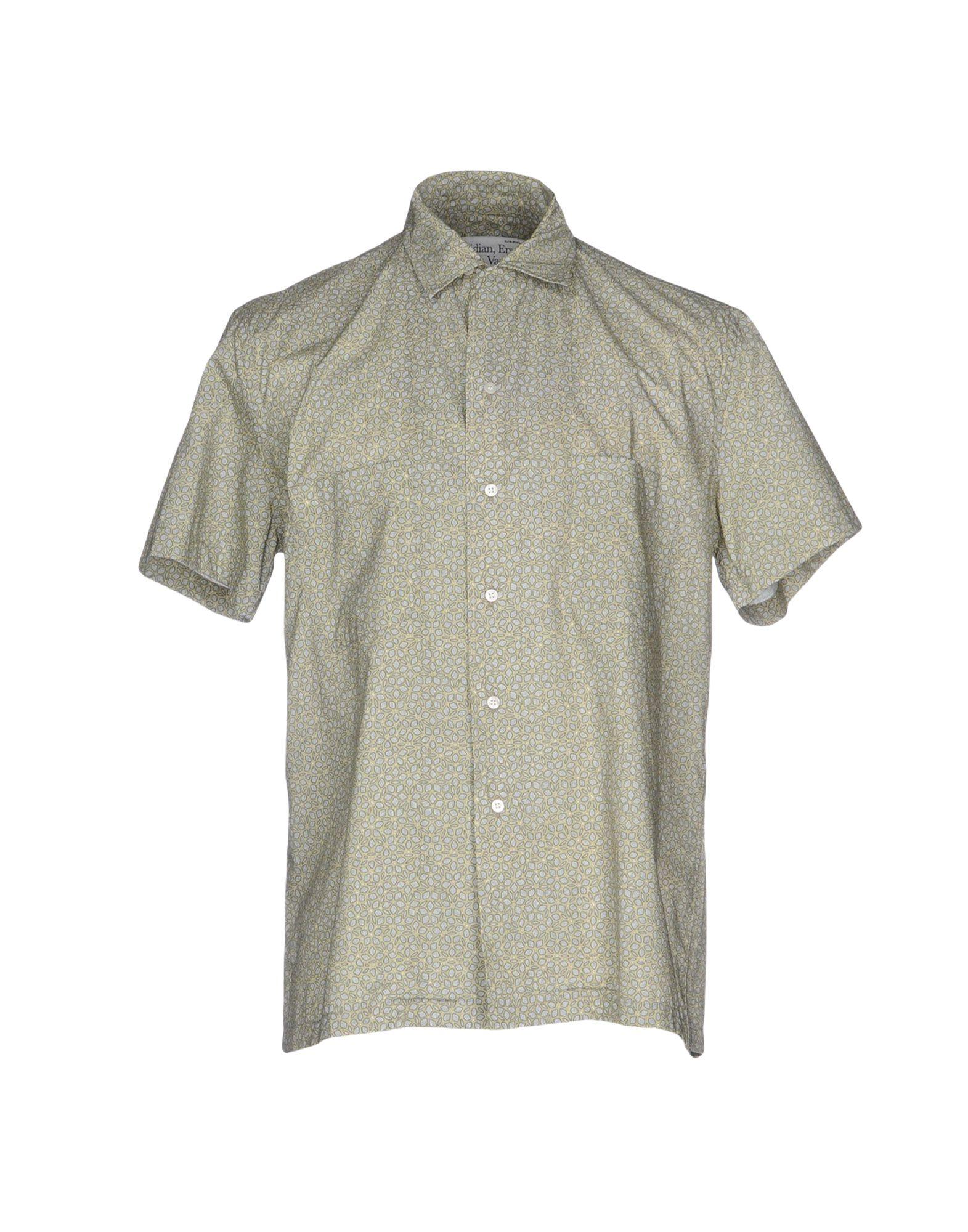 SIDIAN, ERSATZ & VANES Patterned Shirt in Light Green