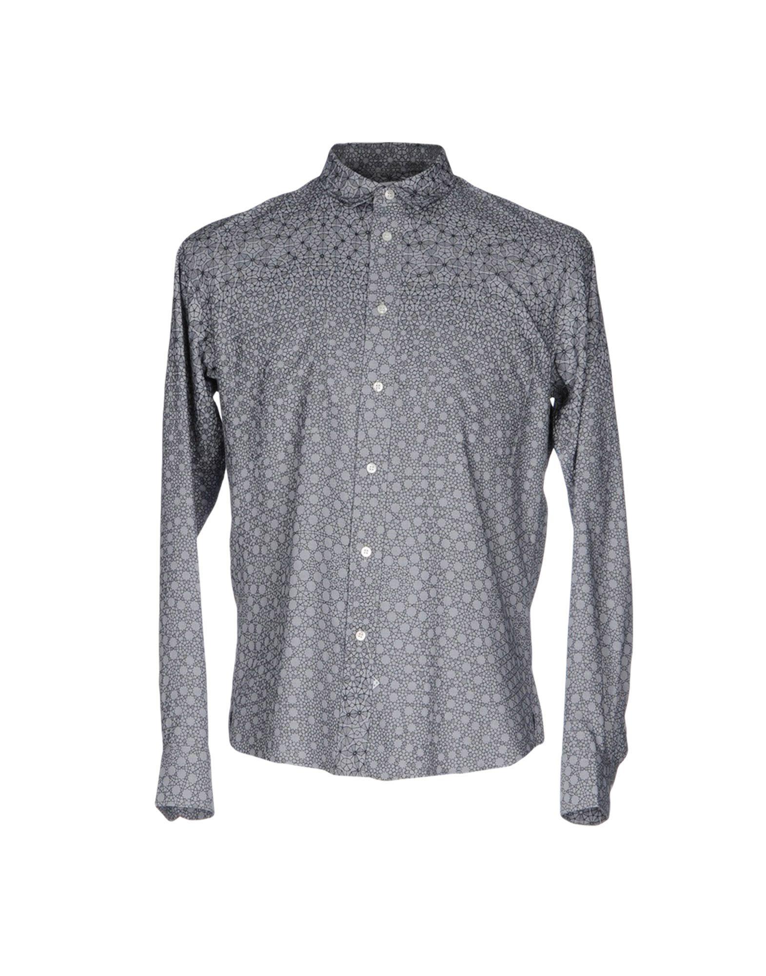 SIDIAN, ERSATZ & VANES Patterned Shirt in Light Grey