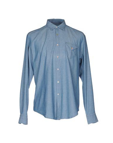 BAGUTTA メンズ シャツ ブルー XS コットン 100%