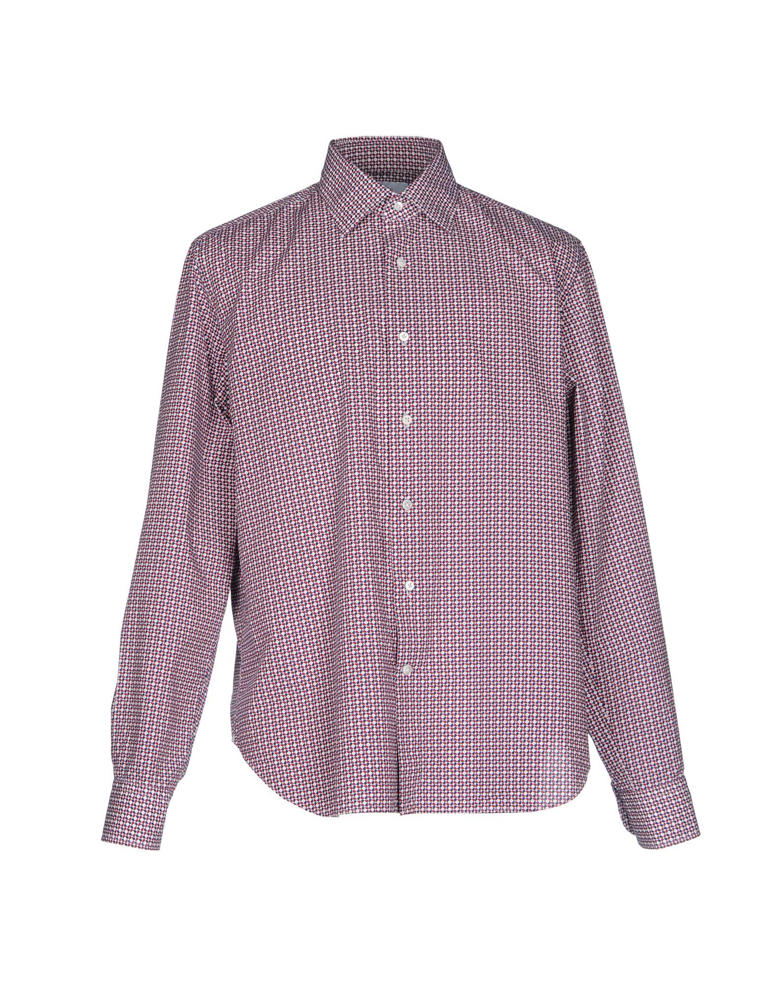 《送料無料》BAGUTTA メンズ シャツ レッド XL コットン 100%
