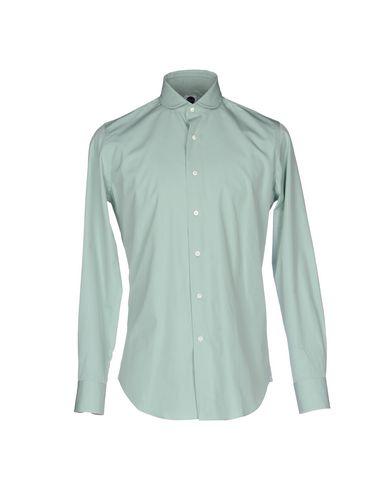 BAGUTTA メンズ シャツ ライトグリーン 37 コットン 100%