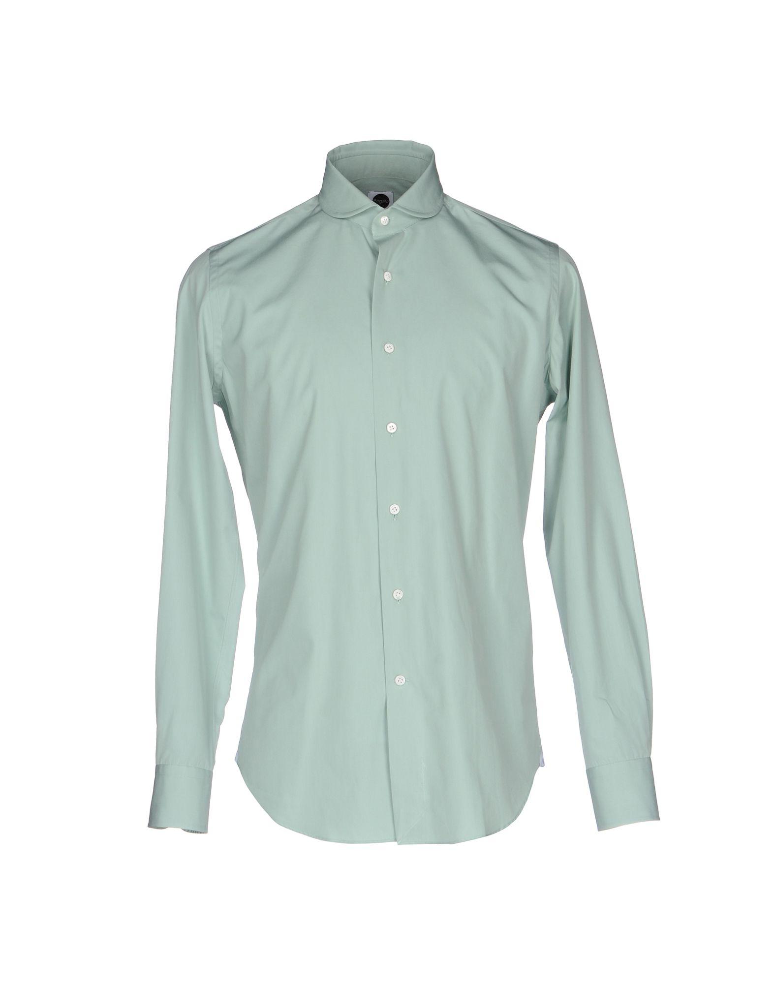 《送料無料》BAGUTTA メンズ シャツ ライトグリーン 37 コットン 100%