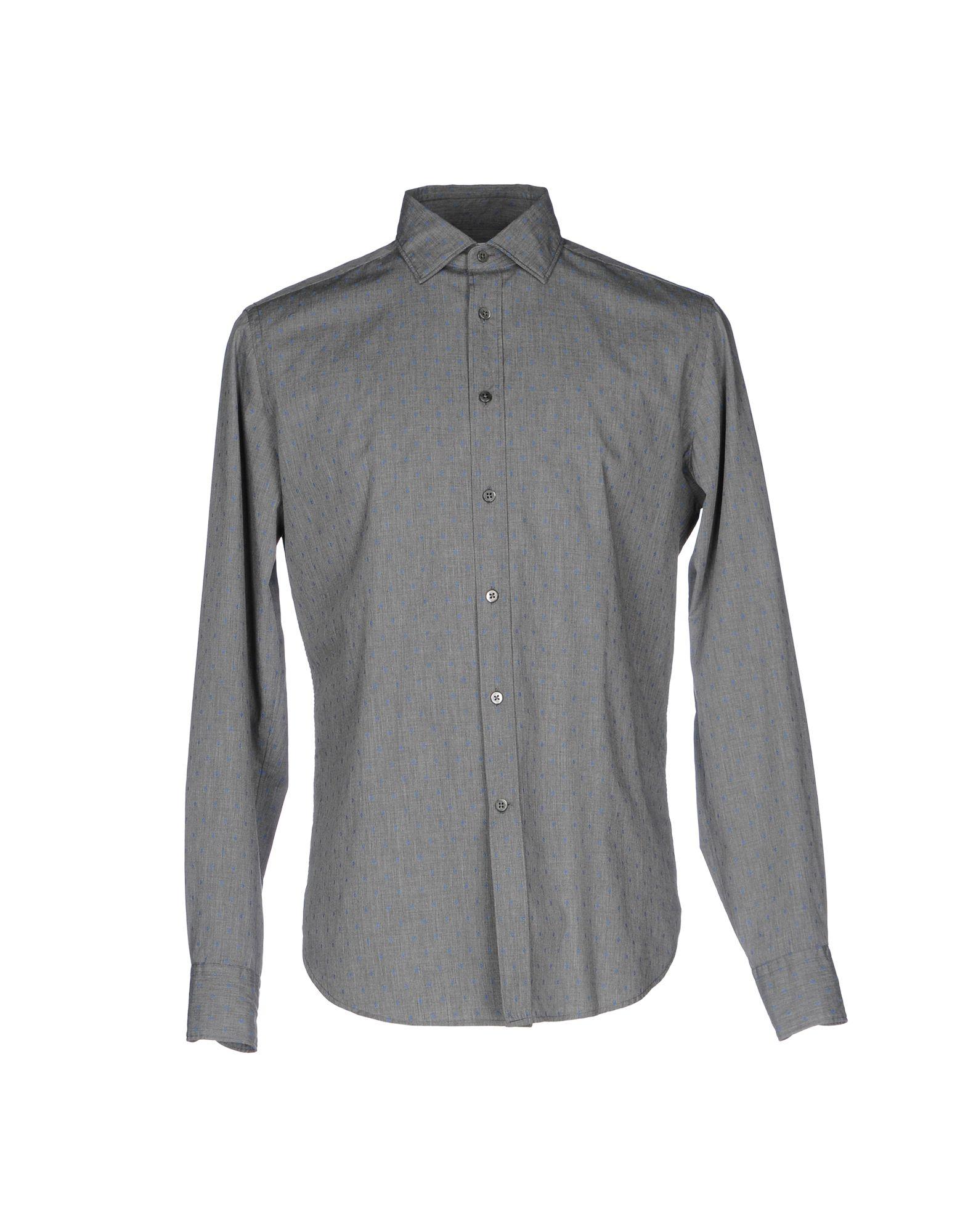 《送料無料》BAGUTTA メンズ シャツ グレー M コットン 100%