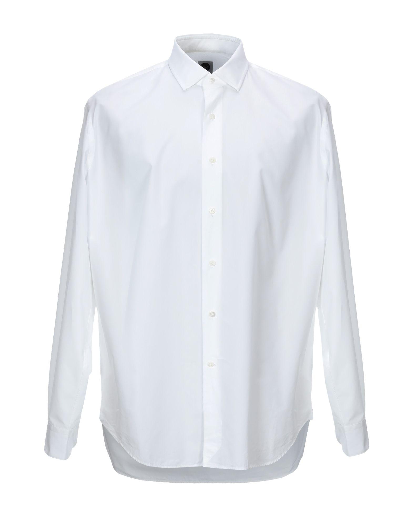 《送料無料》BAGUTTA メンズ シャツ ホワイト 44 コットン 100%