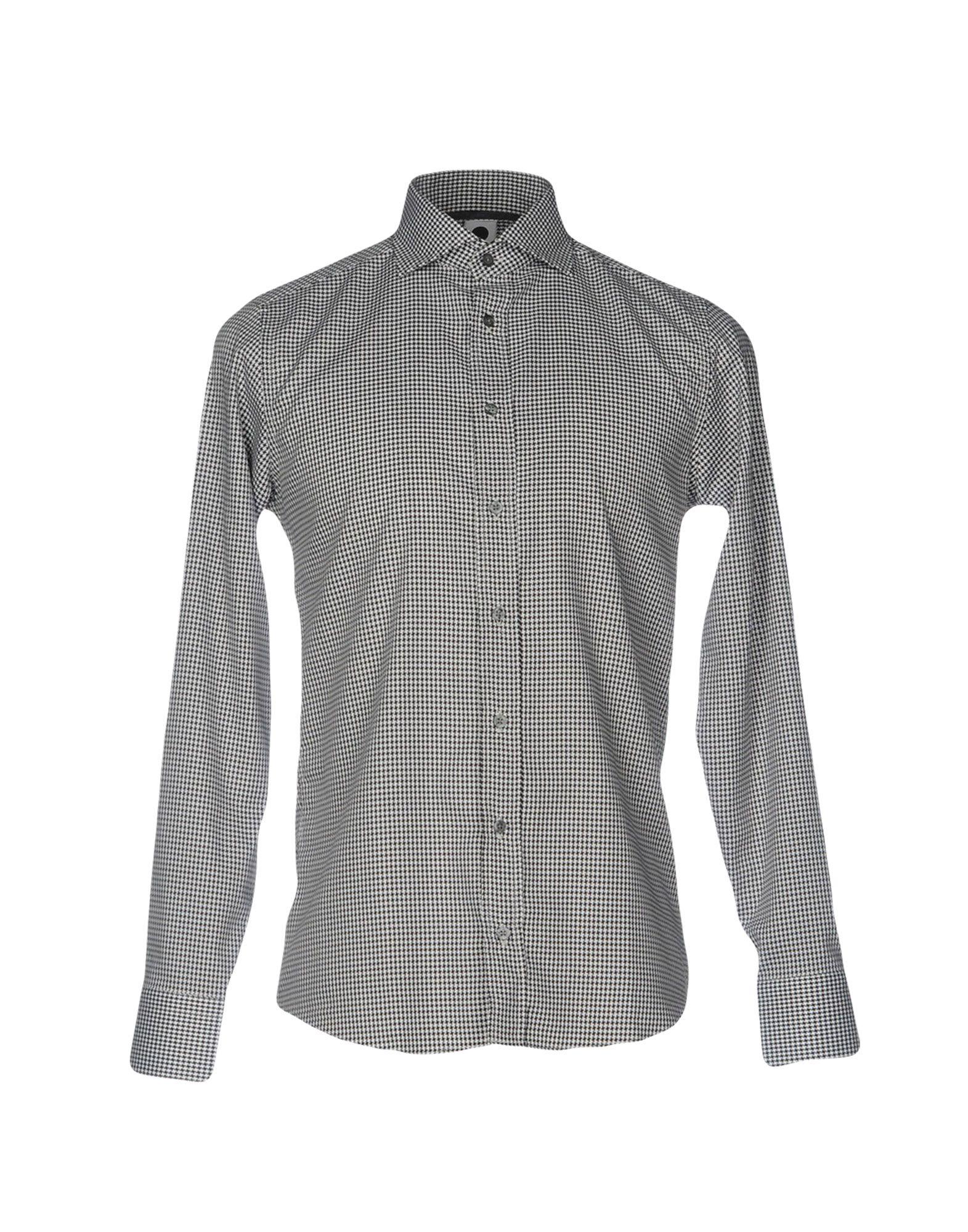 《セール開催中》DE LAMP メンズ シャツ ブラック XS コットン 100%