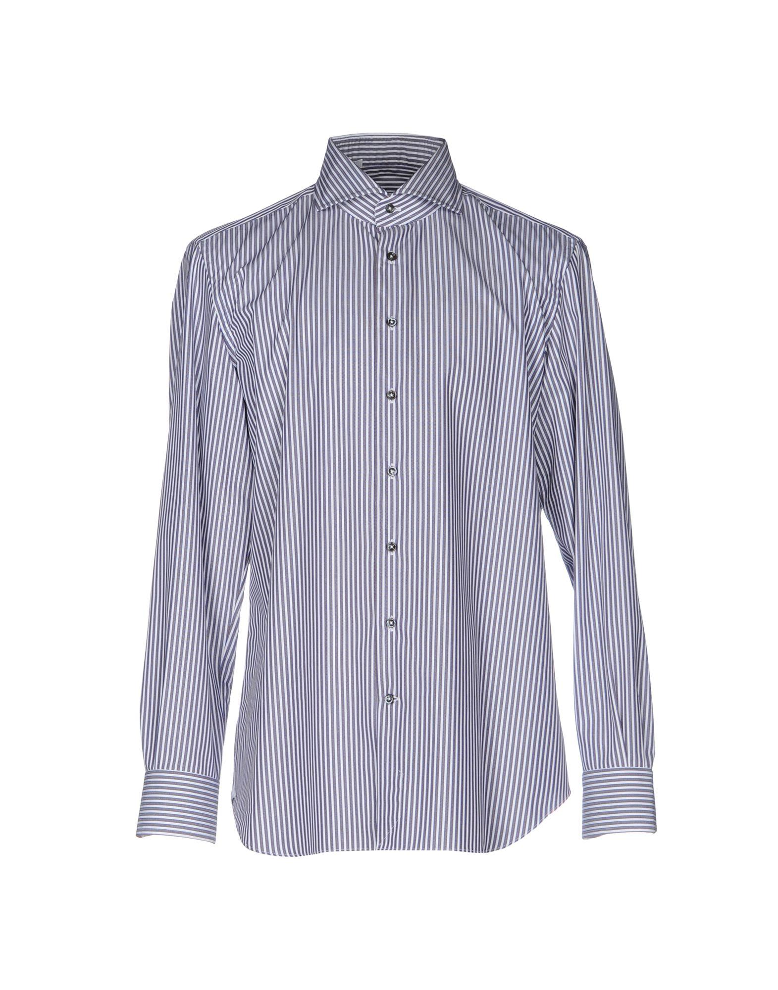 《期間限定セール中》EMANUELE MAFFEIS メンズ シャツ ダークブラウン 43 コットン 100%
