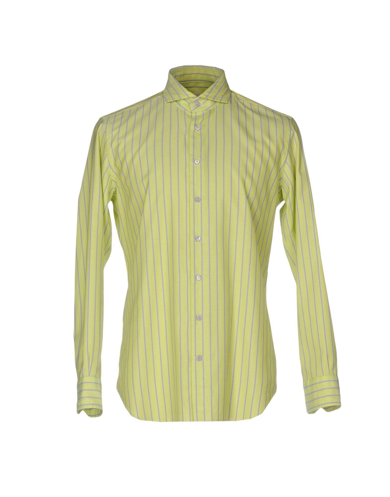 《セール開催中》EMANUELE MAFFEIS メンズ シャツ ライトグリーン 41 コットン 100%