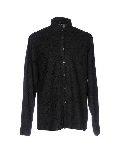 TOMMY HILFIGER DENIM メンズ シャツ ブラック XL コットン 100%