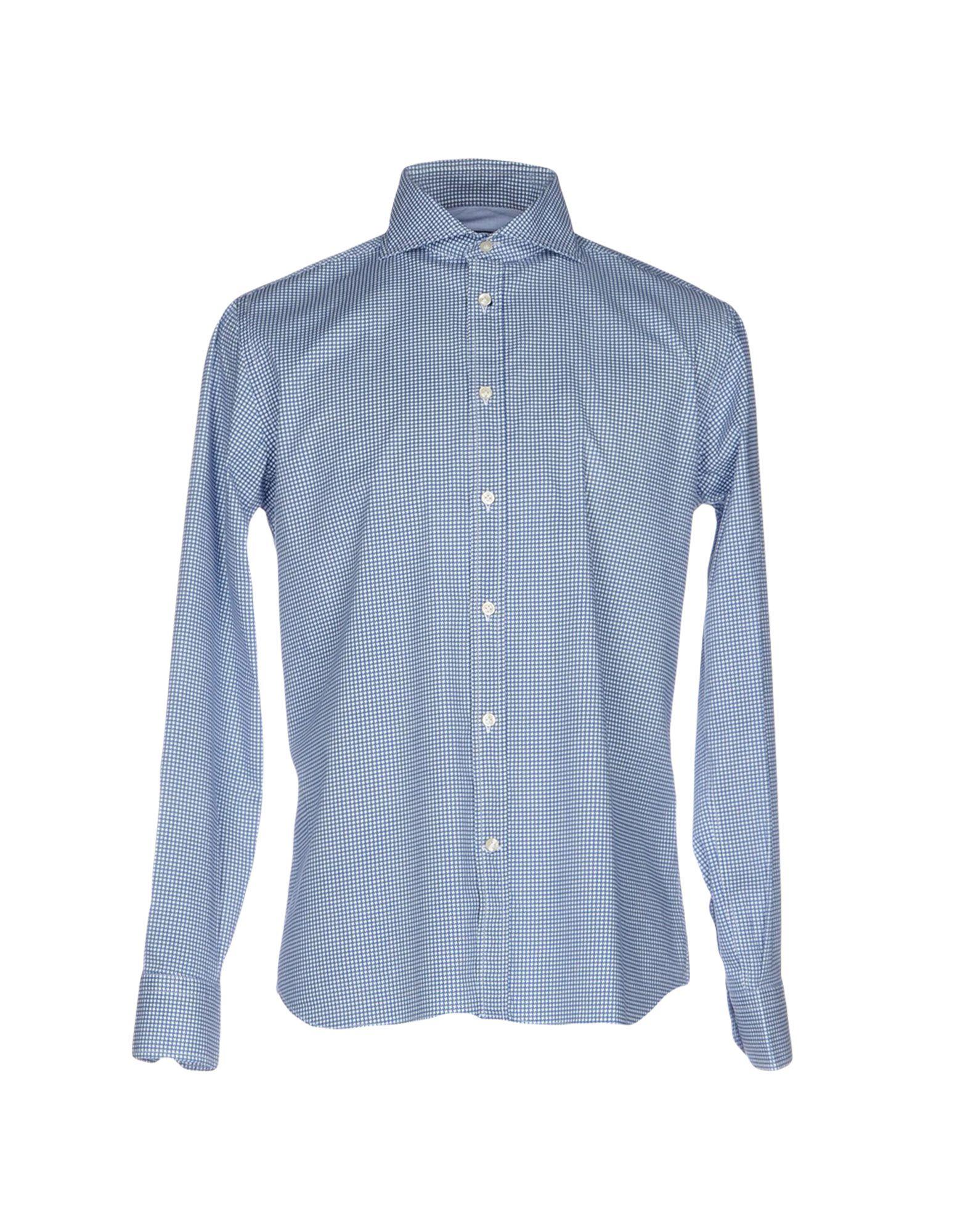 《セール開催中》ALEX DORIANI メンズ シャツ パステルブルー 41 コットン 97% / ポリウレタン 3%