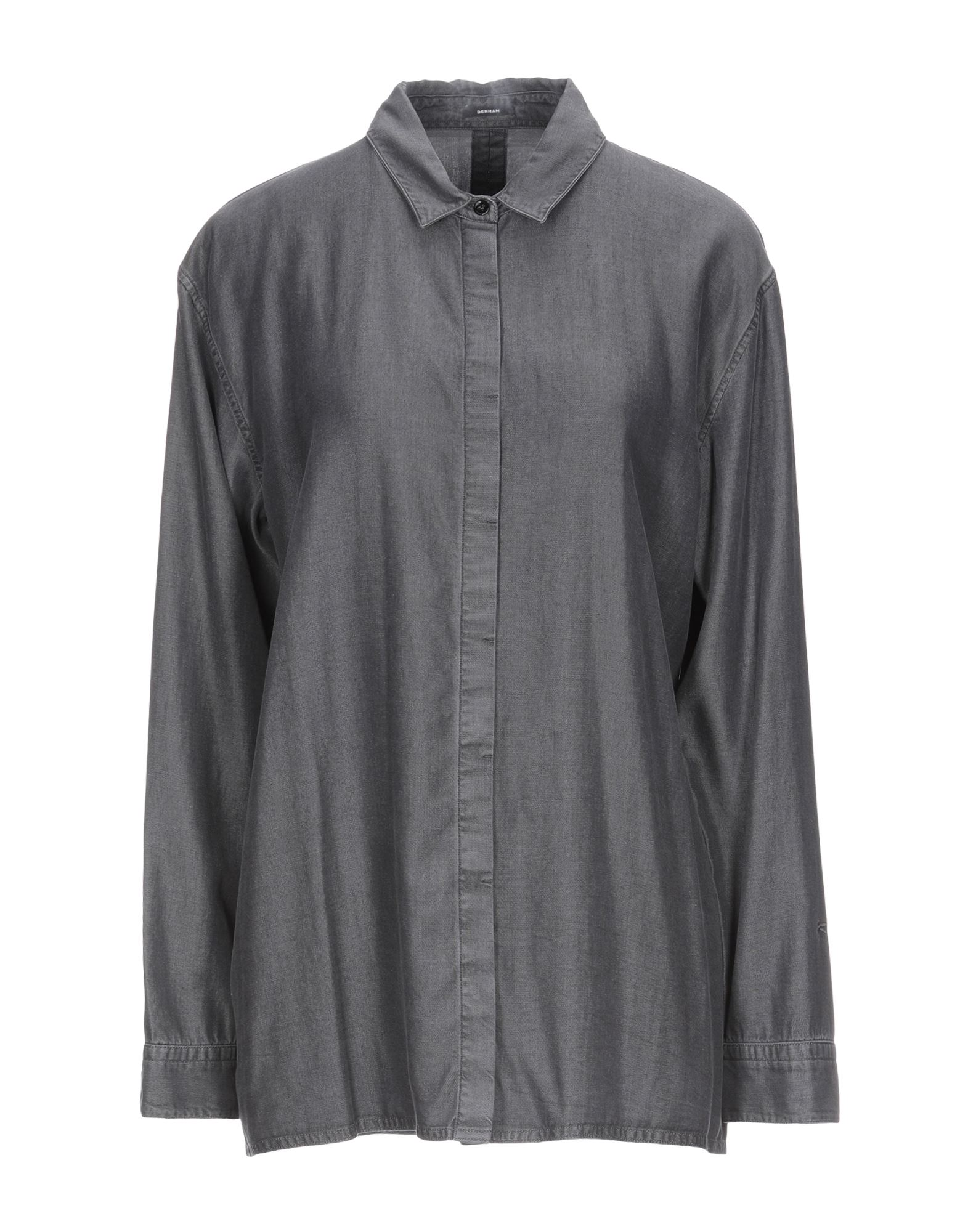 DENHAM Solid Color Shirt in Grey