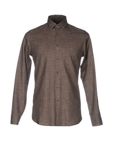 ALESSANDRO DELL'ACQUA メンズ シャツ ダークブラウン 39 コットン 100%
