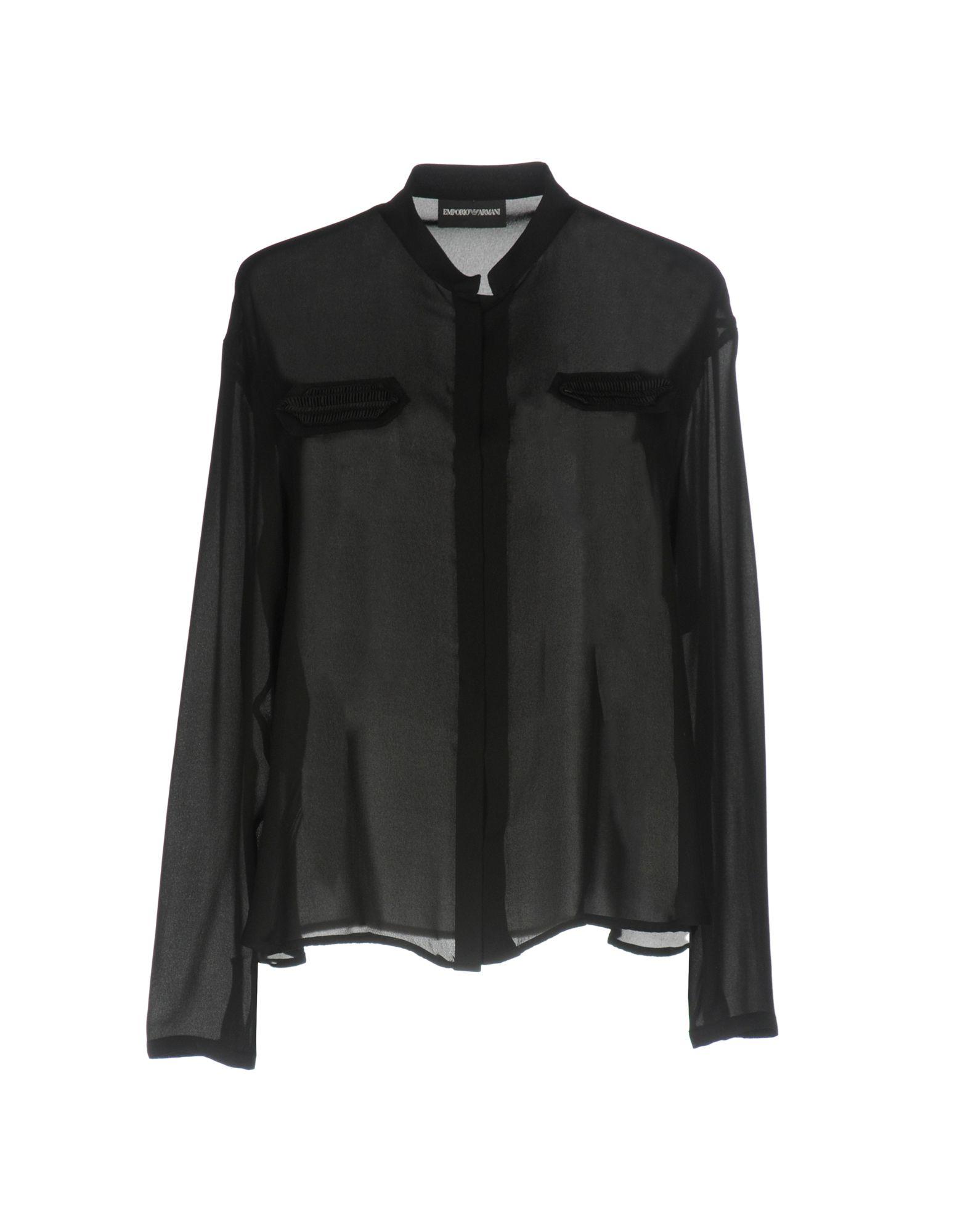 EMPORIO ARMANI Damen Hemd Farbe Schwarz Größe 4