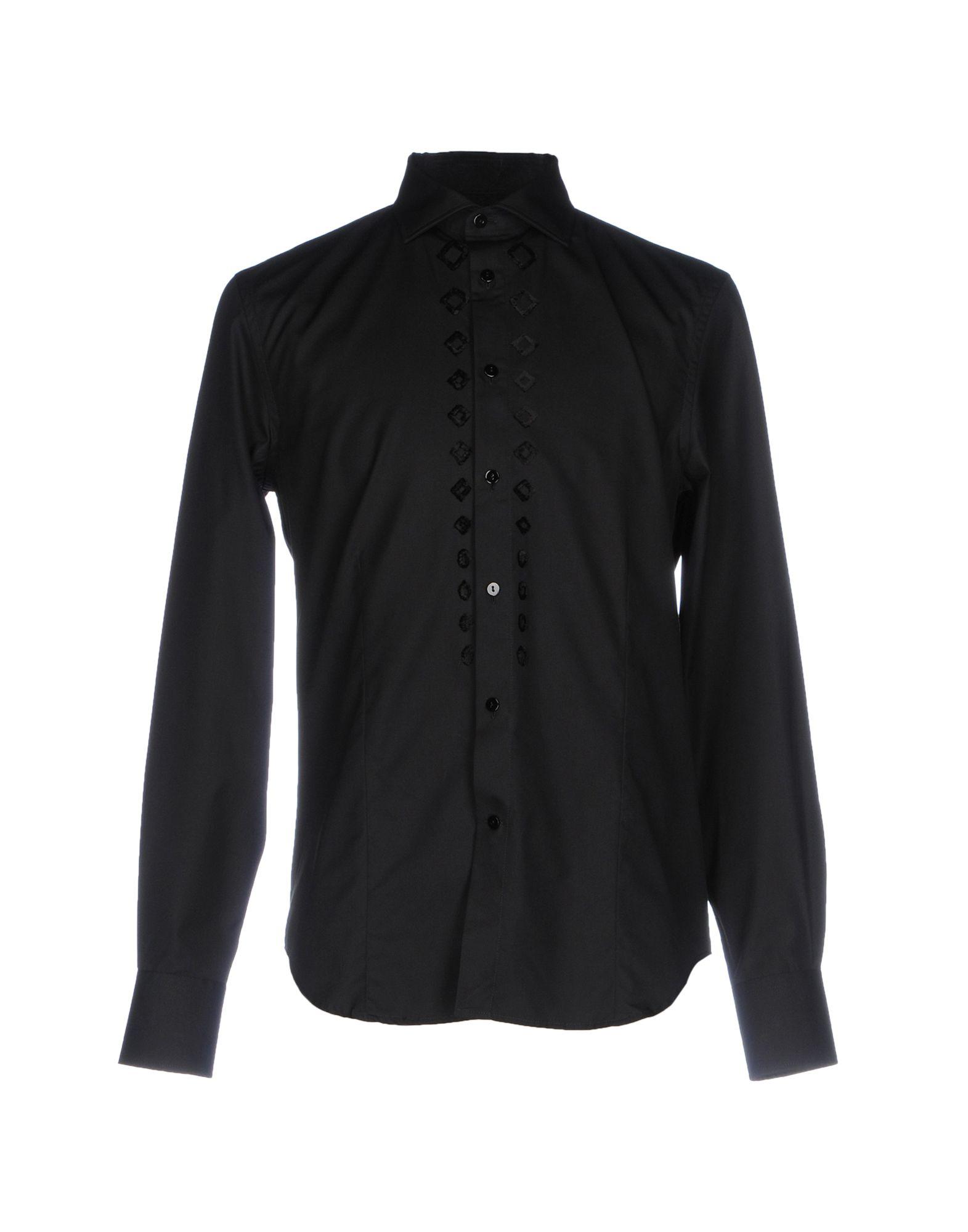ERMANNO SCERVINO Herren Hemd Farbe Schwarz Größe 4