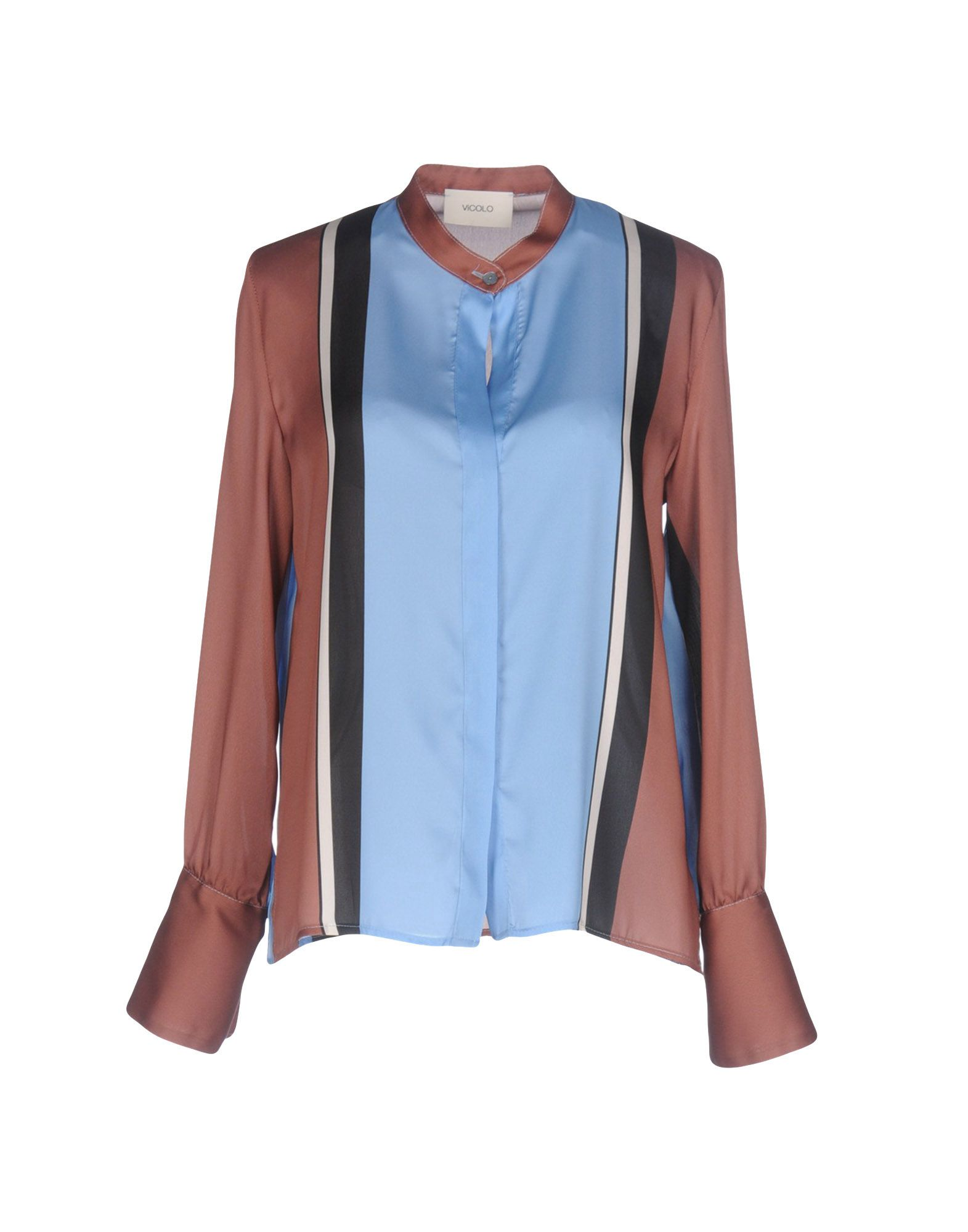 VICOLO Damen Hemd Farbe Braun Größe 4