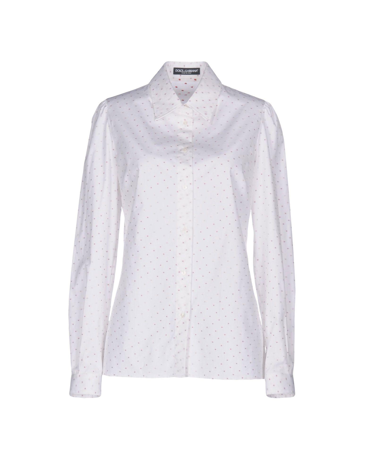 DOLCE & GABBANA Damen Hemd Farbe Weiß Größe 4