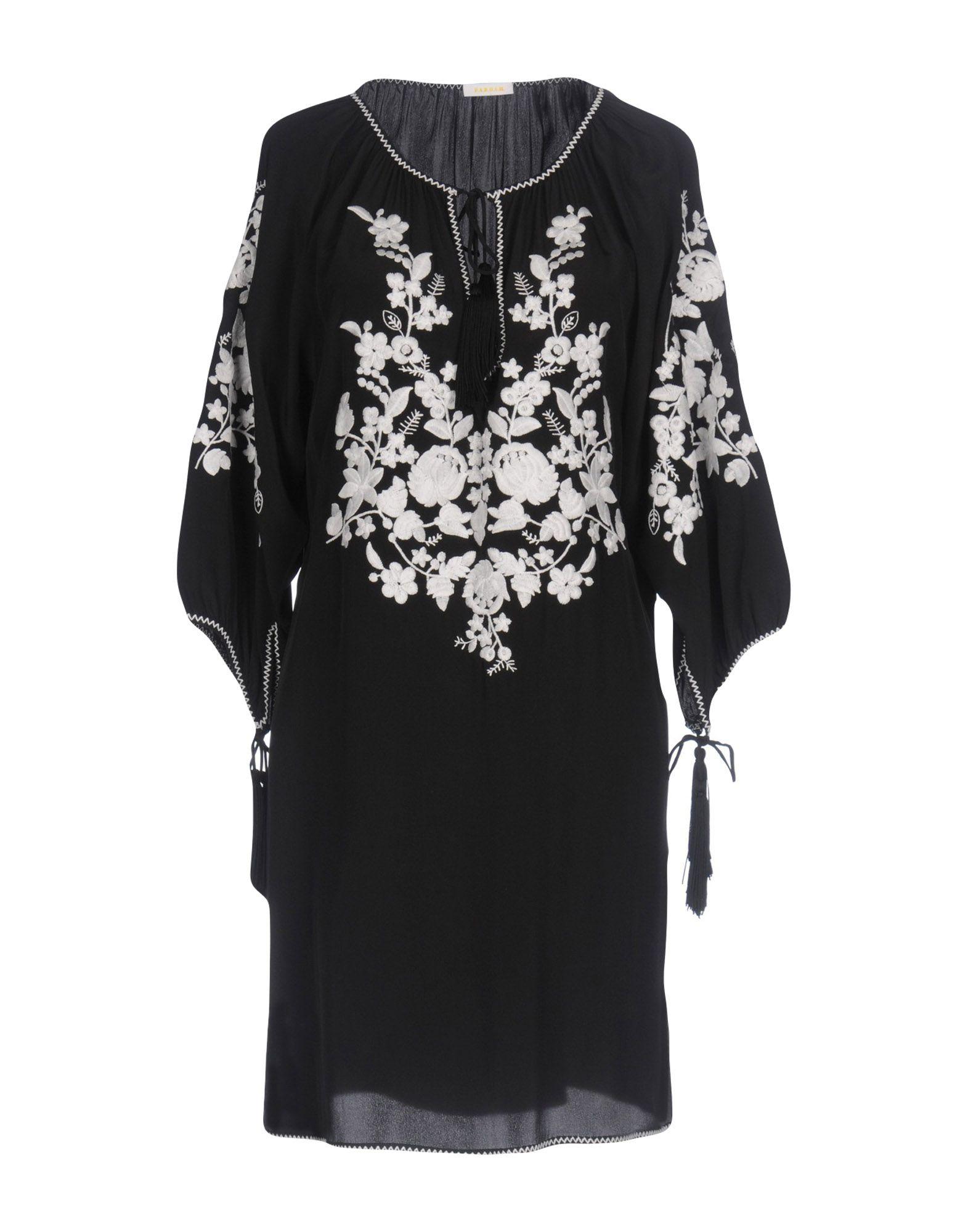 P.A.R.O.S.H. Damen Kurzes Kleid Farbe Schwarz Größe 3