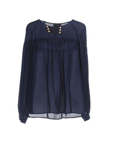 Фото - Женскую блузку  темно-синего цвета