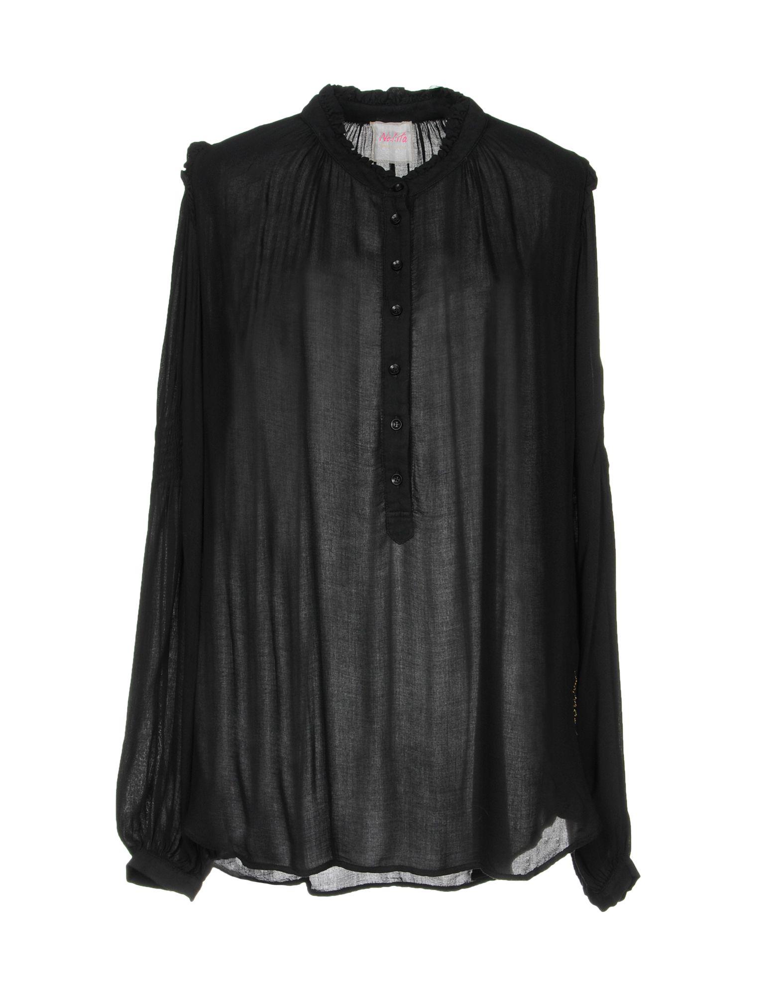 《送料無料》NOLITA レディース シャツ ブラック XS レーヨン 100%