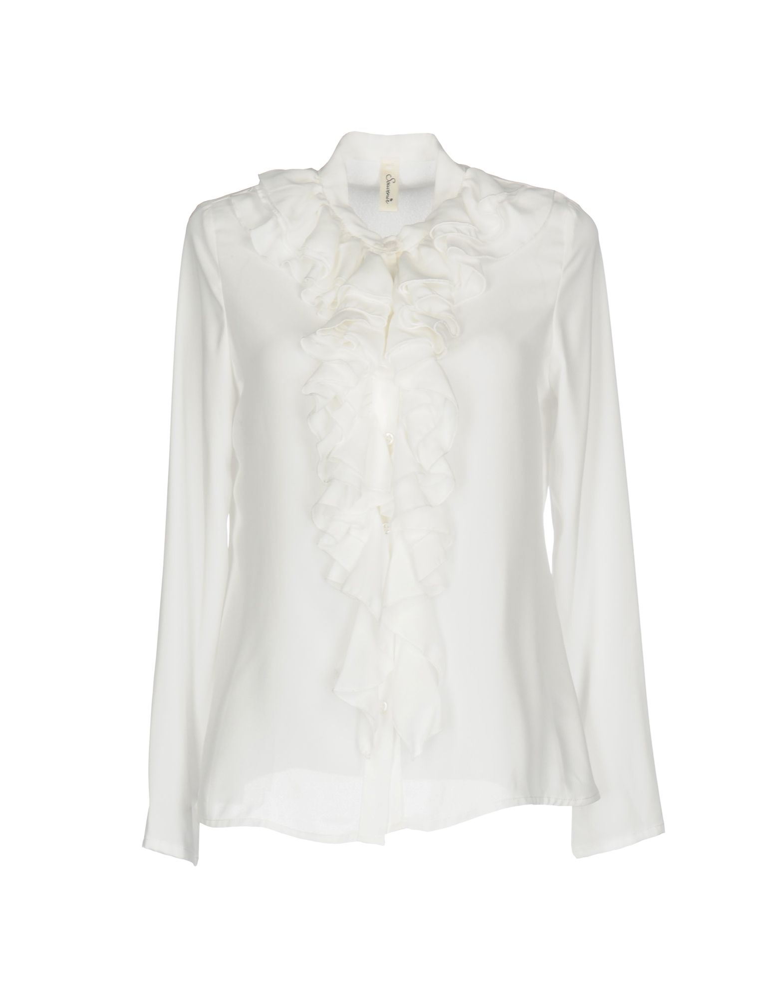 SOUVENIR Damen Hemd Farbe Weiß Größe 4