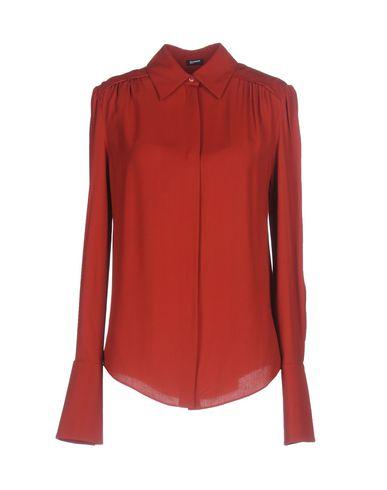 Фото - Pубашка кирпично-красного цвета