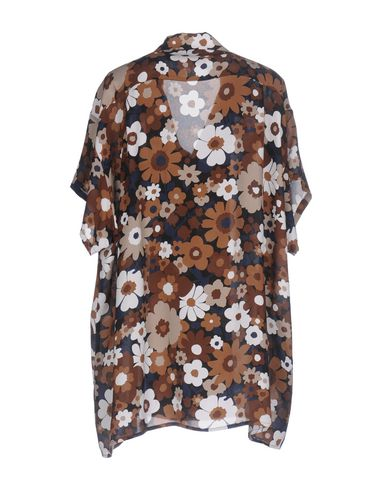 Фото 2 - Pубашка коричневого цвета