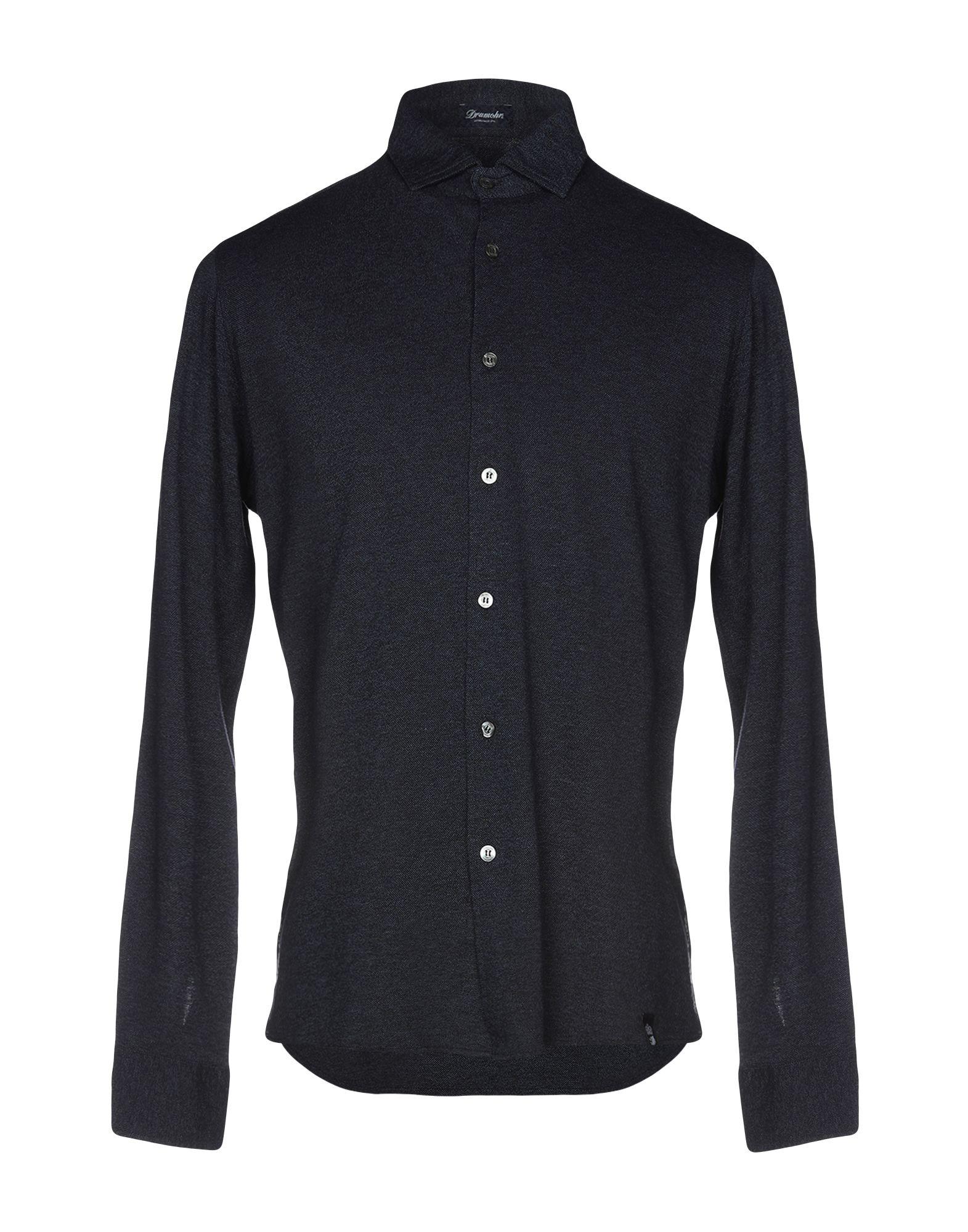 《送料無料》DRUMOHR メンズ シャツ ブルー S コットン 100%