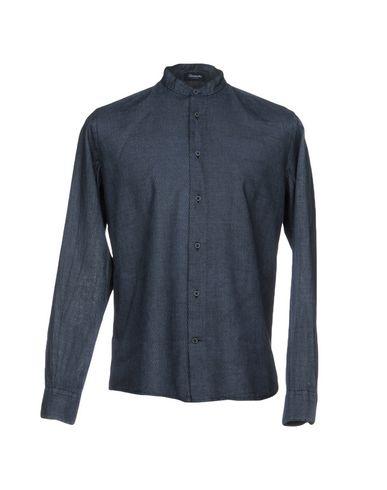 Фото - Pубашка от DRUMOHR темно-синего цвета