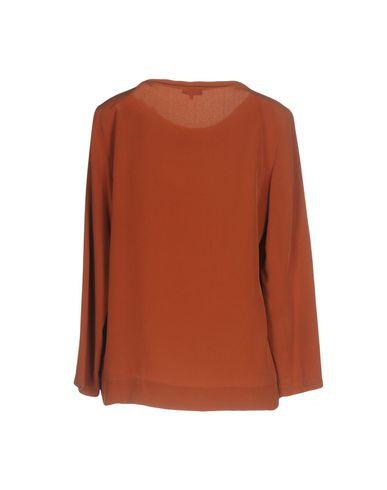 Фото 2 - Женскую блузку MALÌPARMI коричневого цвета