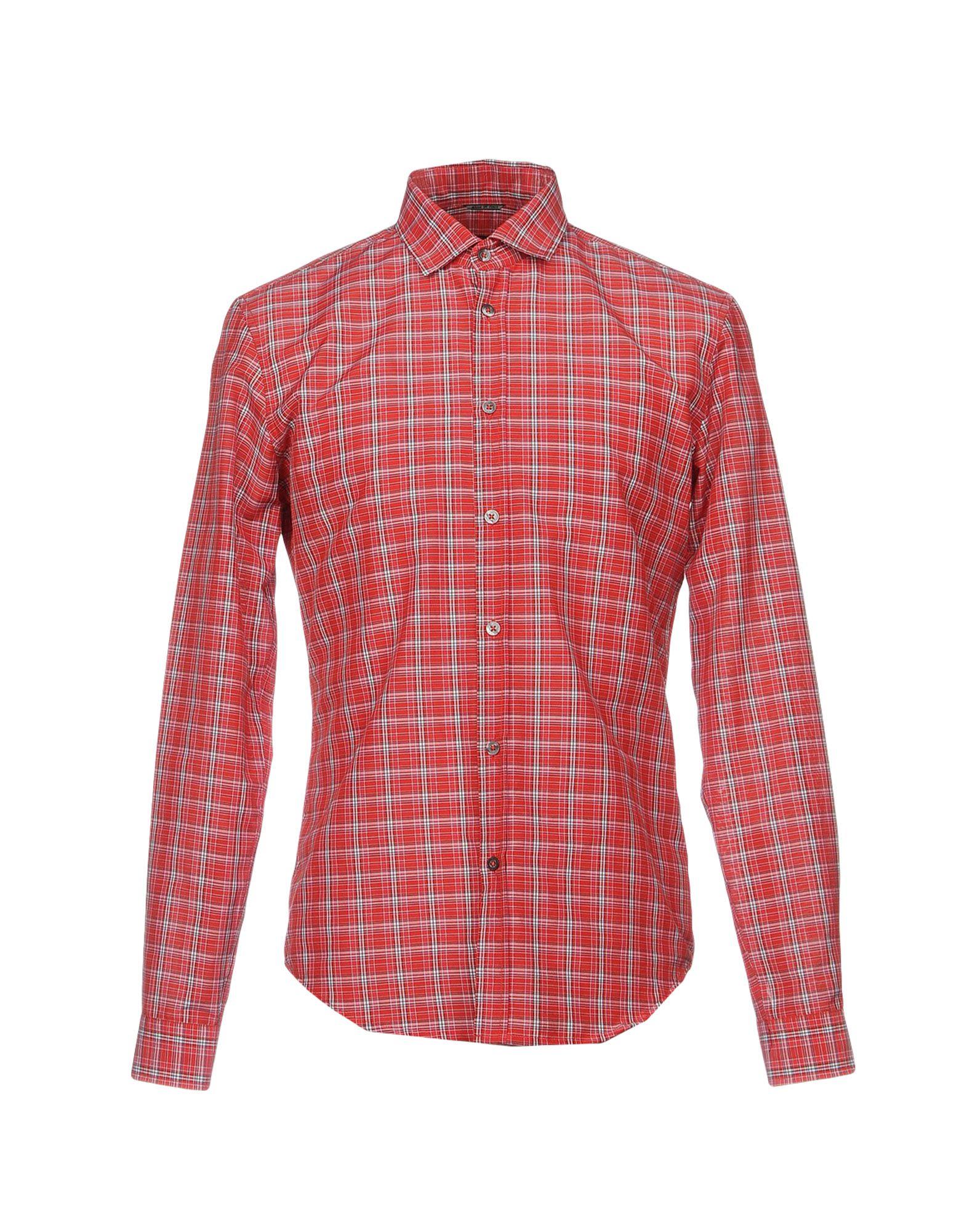 цена DANIELE ALESSANDRINI HOMME Pубашка онлайн в 2017 году