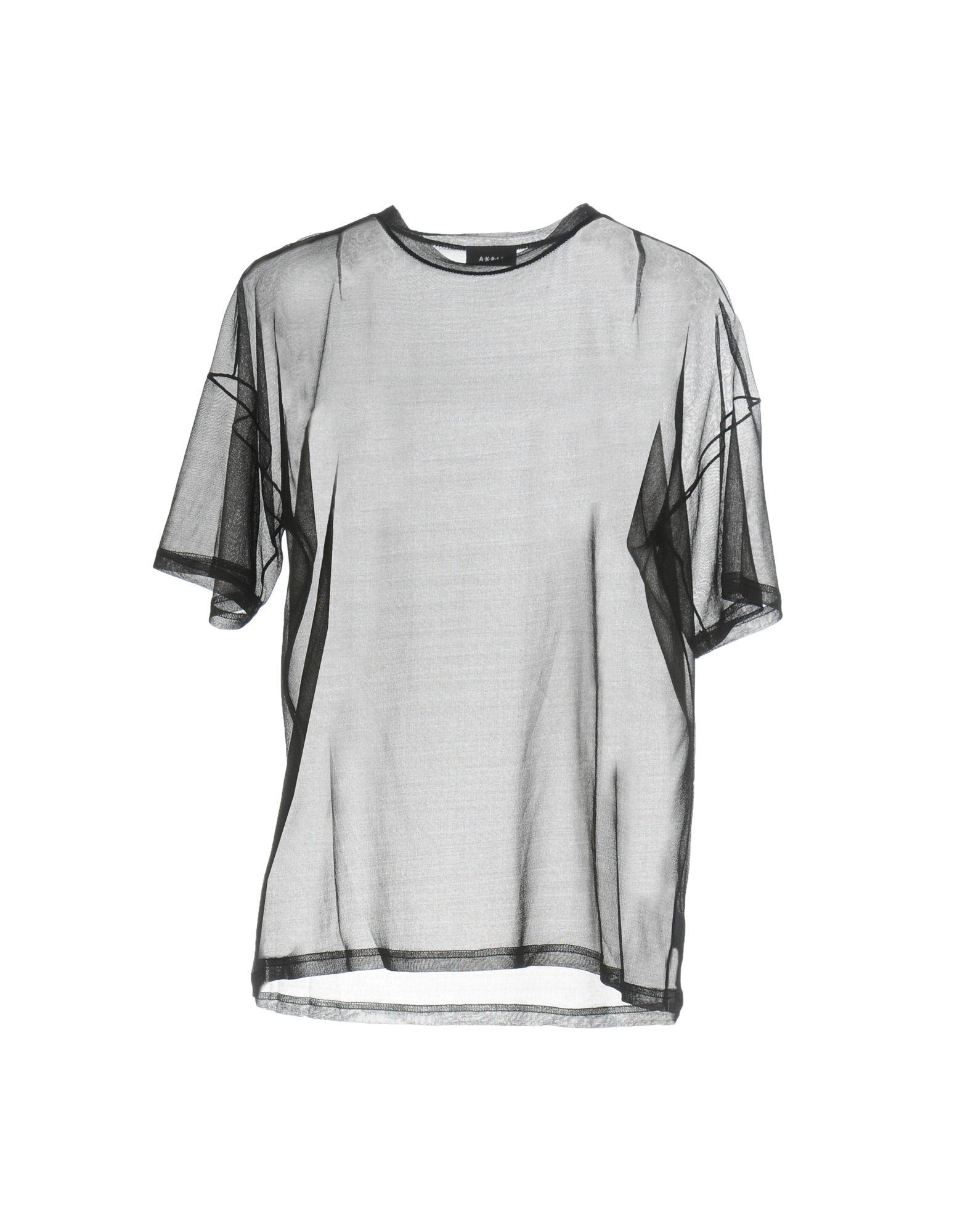 AKRIS レディース T シャツ ブラック 36 シルク 100%