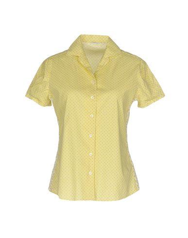 Фото - Pубашка от CALIBAN RUE DE MATHIEU EDITION желтого цвета