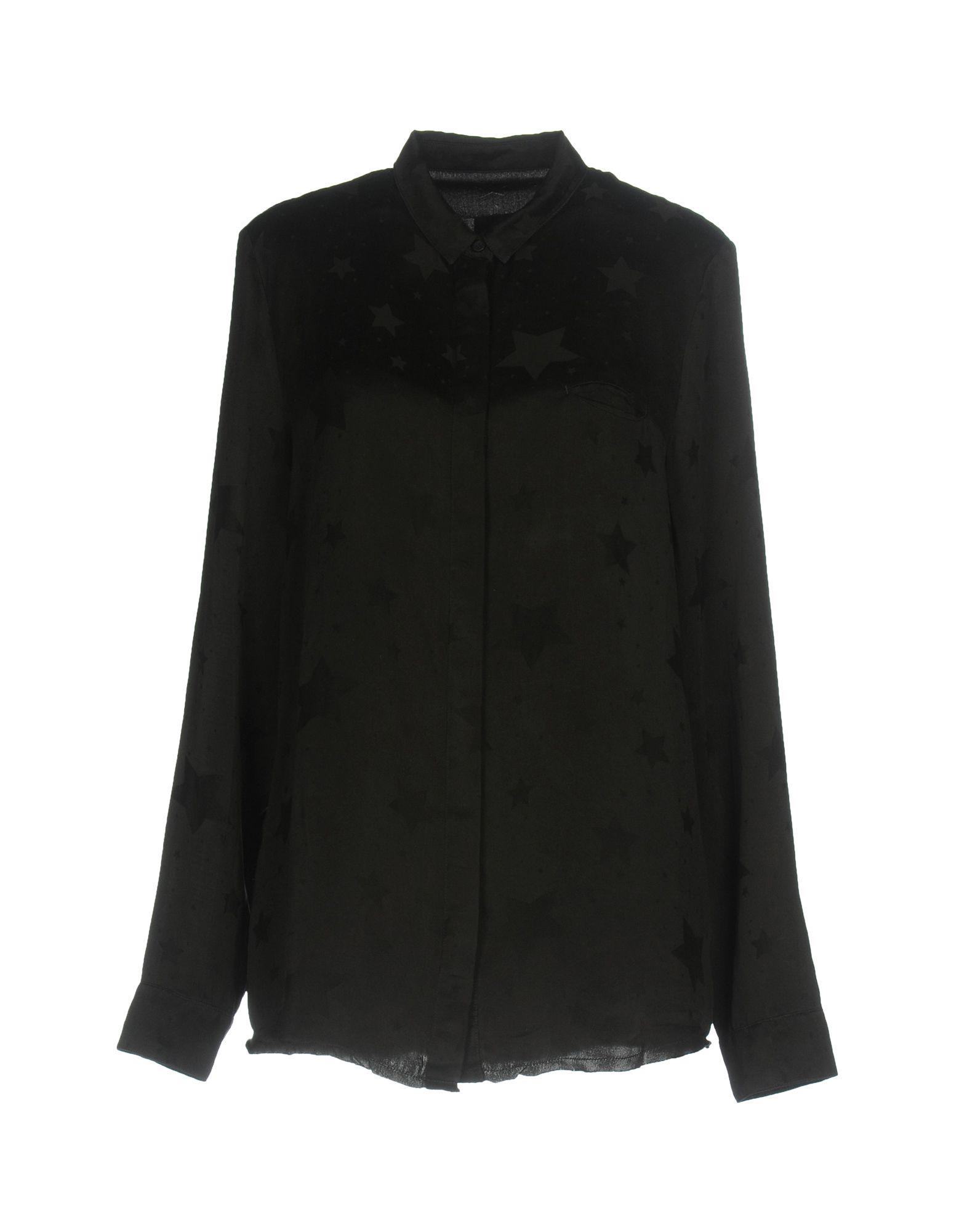 《送料無料》RTA レディース シャツ ブラック XS シルク 100%