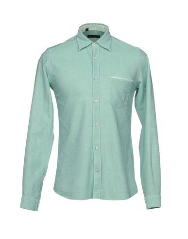 ALESSANDRO DELL'ACQUA メンズ シャツ グリーン 39 コットン 100%