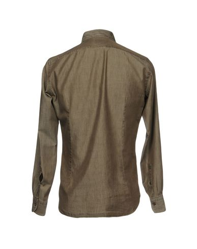 Фото 2 - Pубашка от MAZZARELLI серого цвета