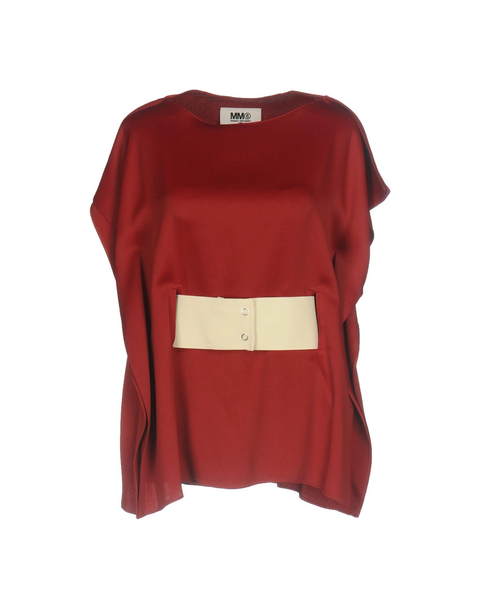 MM6 MAISON MARGIELA Damen Bluse Farbe Bordeaux Größe 3